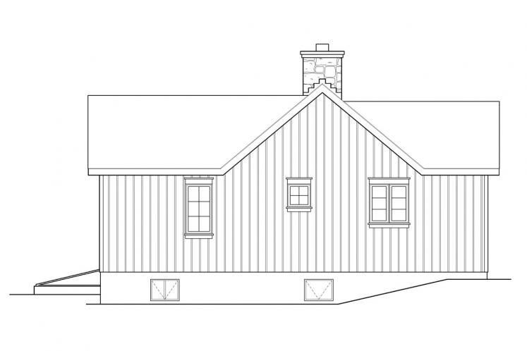 Country House Plan -  95629 - Left Exterior