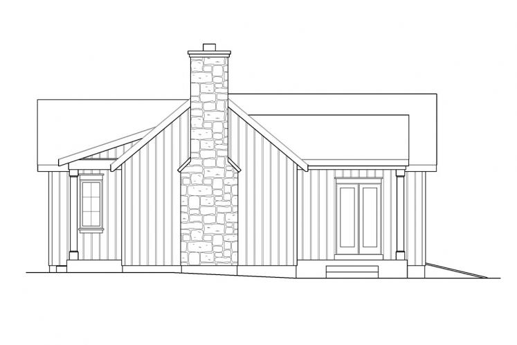 Cottage House Plan -  95629 - Right Exterior