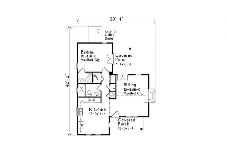 Country House Plan -  95629 - 1st Floor Plan