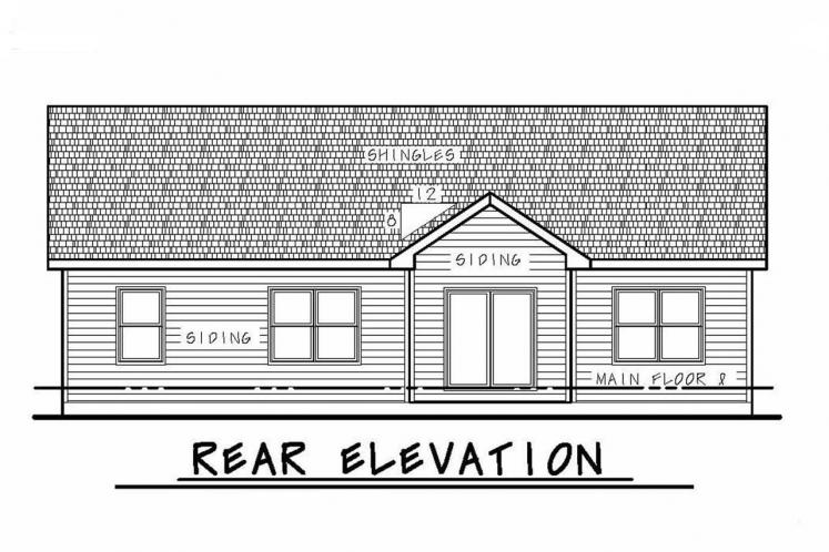 Country House Plan - Crandell 95637 - Rear Exterior