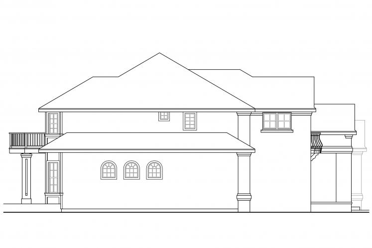 European House Plan - Reynolds 95664 - Left Exterior
