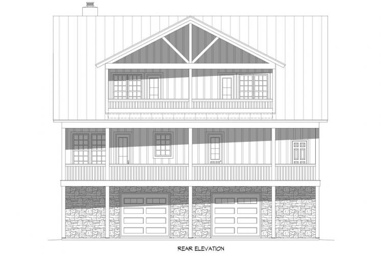 Country House Plan - Island Creek 95701 - Rear Exterior