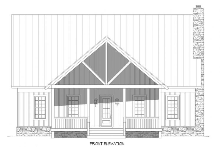 Craftsman House Plan - Island Creek 95701 - Front Exterior