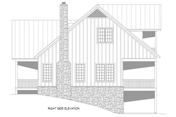 Country House Plan - Island Creek 95701 - Right Exterior