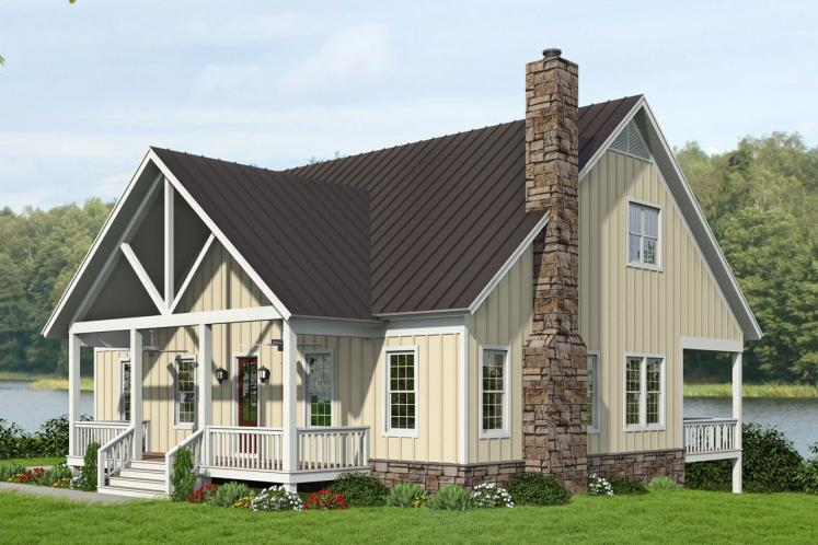 Cottage House Plan - Island Creek 95701 - Front Exterior