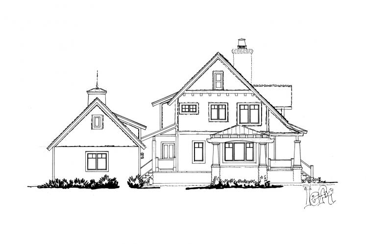 Traditional House Plan - Winter Park 95738 - Left Exterior