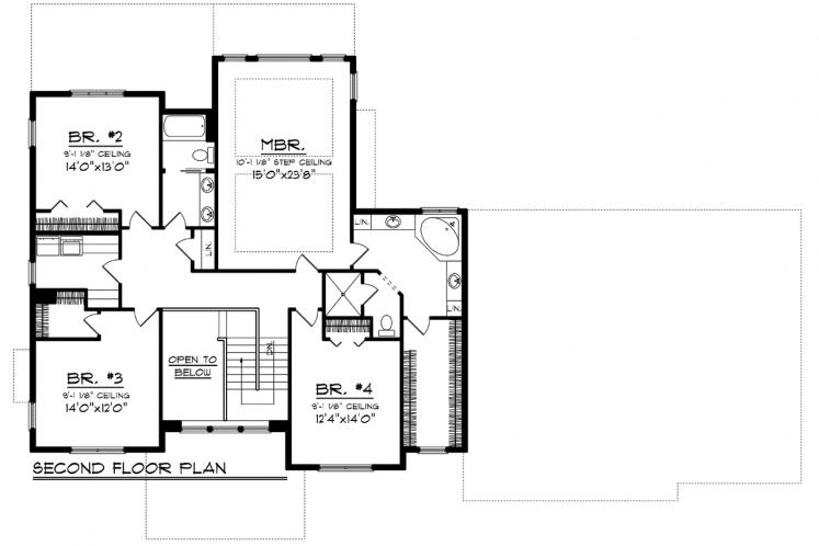Traditional House Plan -  95760 - 2nd Floor Plan