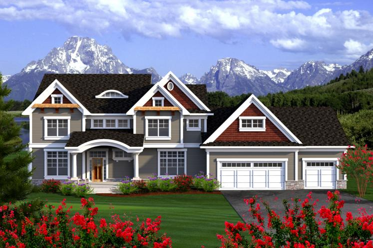 Traditional House Plan -  95760 - Front Exterior
