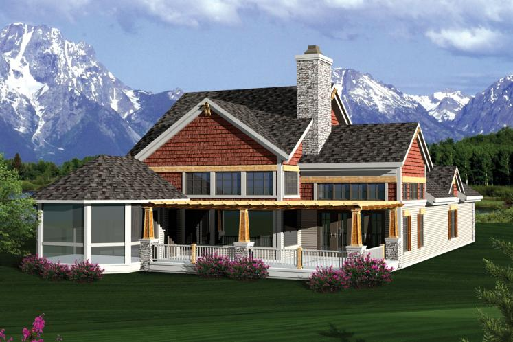 Craftsman House Plan -  95841 - Rear Exterior