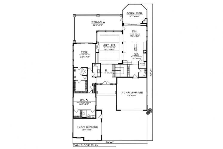 Ranch House Plan -  95841 - 1st Floor Plan