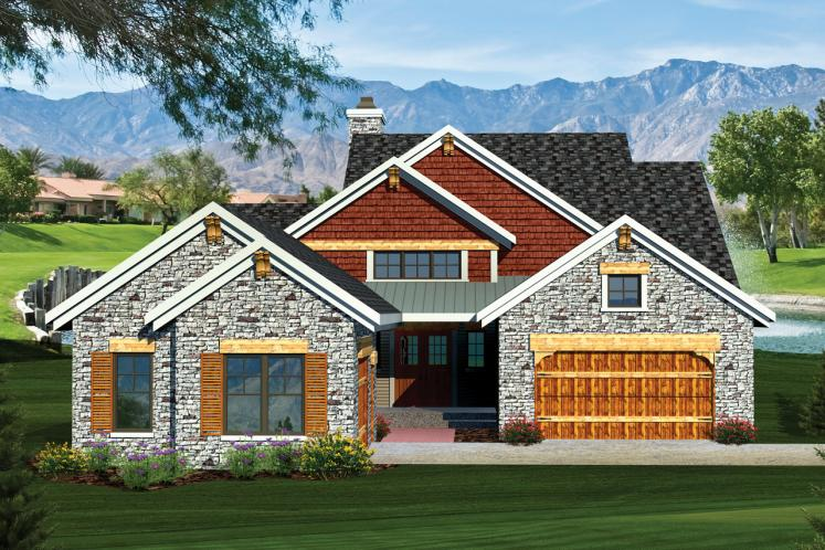 European House Plan -  95841 - Front Exterior
