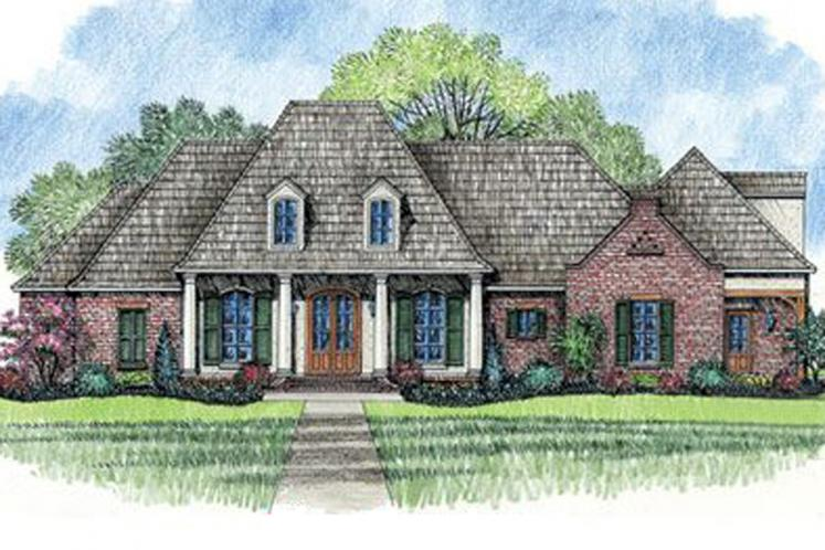 European House Plan - Natchez 95876 - Front Exterior