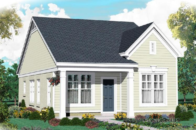 Traditional House Plan -  95882 - Front Exterior