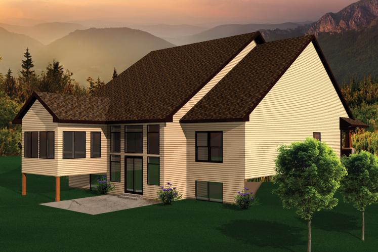 Bungalow House Plan -  96134 - Rear Exterior