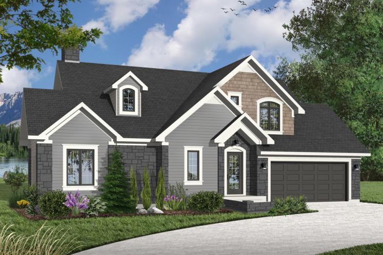 Craftsman House Plan - Keepsake 1 96315 - Front Exterior