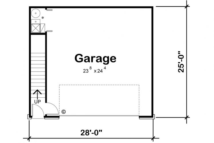 Country Garage Plan -  96320 - 1st Floor Plan