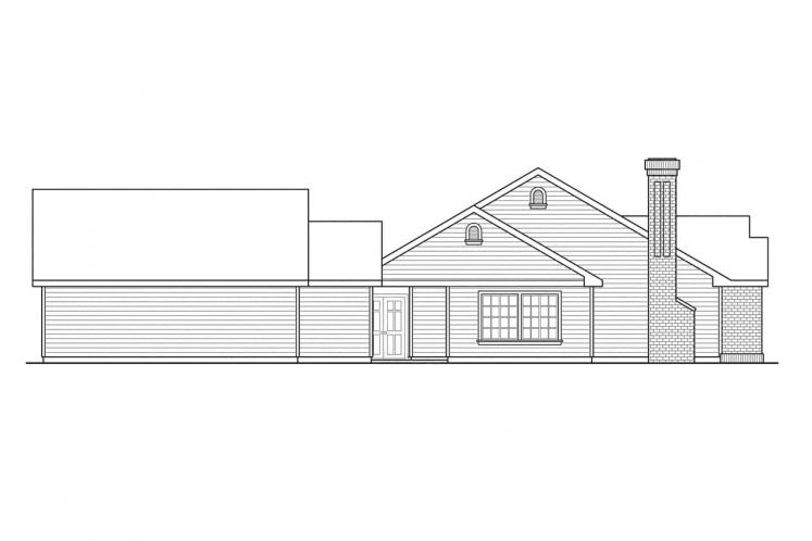 European House Plan - Ardella 96483 - Left Exterior