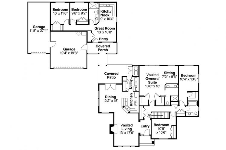 Cottage House Plan - Ardella 96483 - 1st Floor Plan