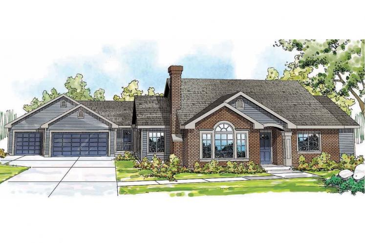 Ranch House Plan - Ardella 96483 - Front Exterior