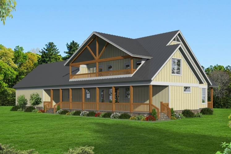 Cottage House Plan -  96505 - Rear Exterior