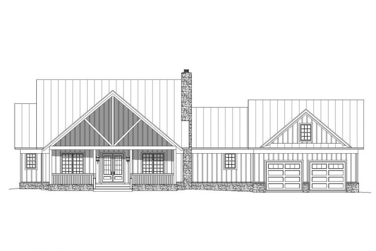 Country House Plan -  96505 - Front Exterior