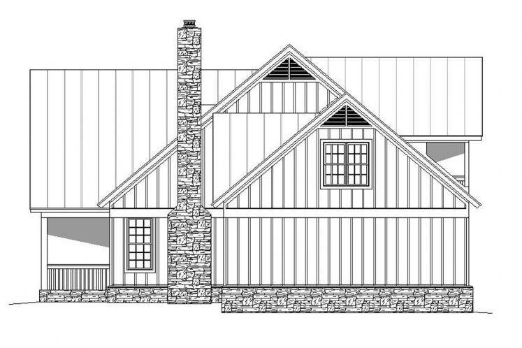 Country House Plan -  96505 - Right Exterior