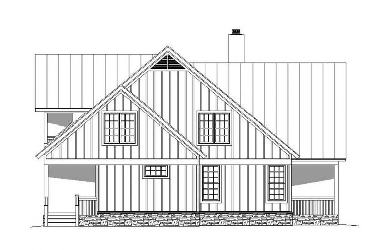 Cottage House Plan -  96505 - Left Exterior