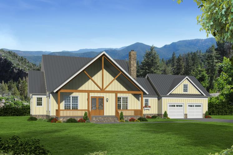 Craftsman House Plan -  96505 - Front Exterior