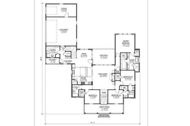 Classic House Plan - Ruston 96630 - 1st Floor Plan