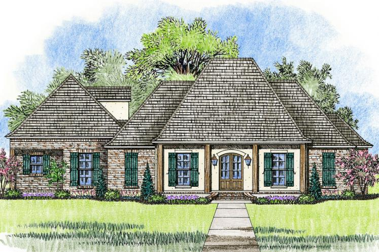Southern House Plan - Ruston 96630 - Front Exterior