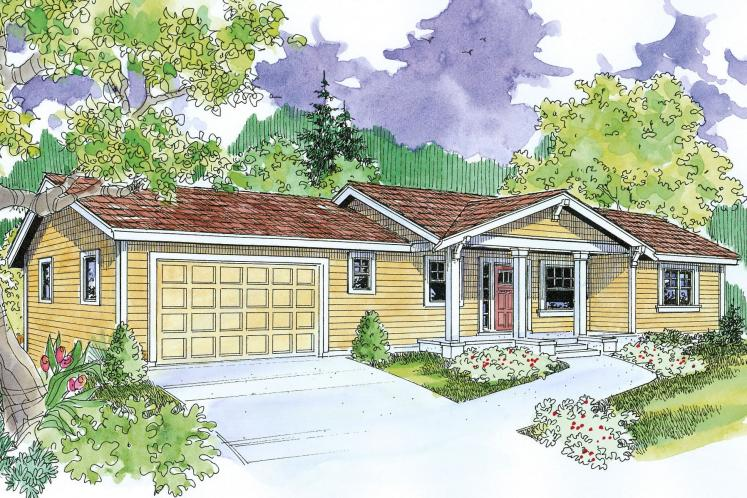 Ranch House Plan - Gatsby 96635 - Front Exterior