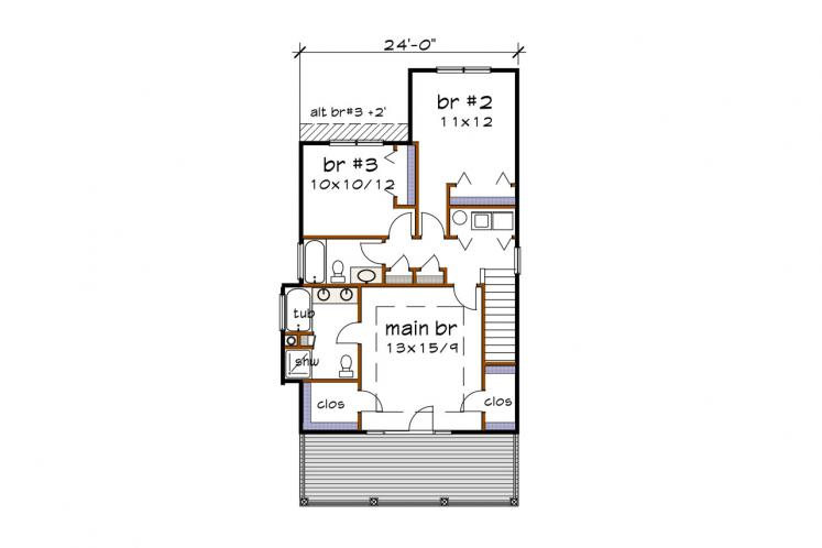 Country House Plan -  96770 - 2nd Floor Plan