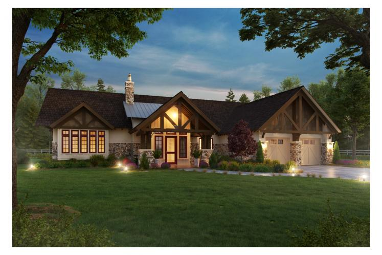 Ranch House Plan - Lewis Ridge 96774 - Front Exterior