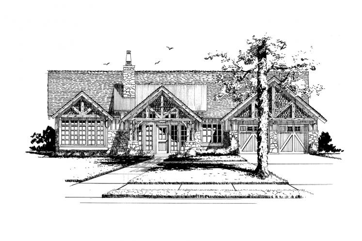 Bungalow House Plan - Lewis Ridge 96774 - Front Exterior