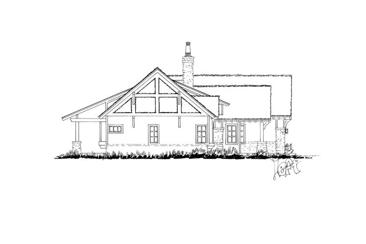 Ranch House Plan - Lewis Ridge 96774 - Left Exterior