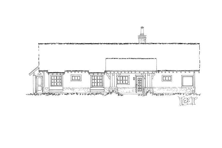Craftsman House Plan - Lewis Ridge 96774 - Rear Exterior