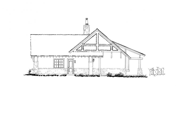 Bungalow House Plan - Lewis Ridge 96774 - Right Exterior