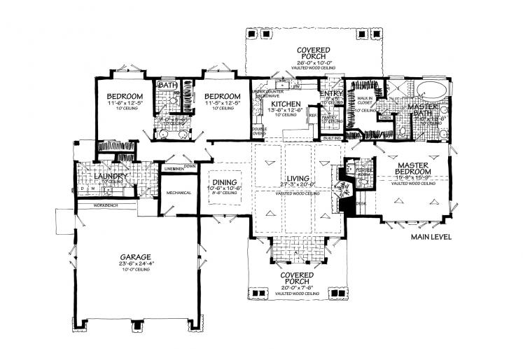 Ranch House Plan - Lewis Ridge 96774 - Optional Floor Plan