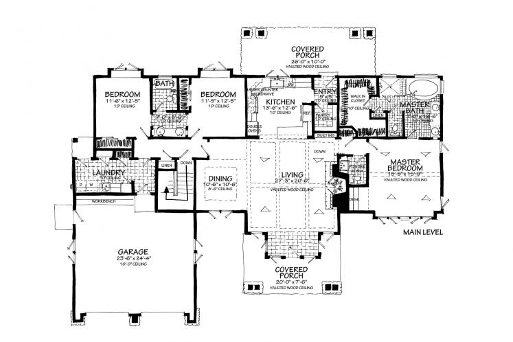 Bungalow House Plan - Lewis Ridge 96774 - Optional Floor Plan