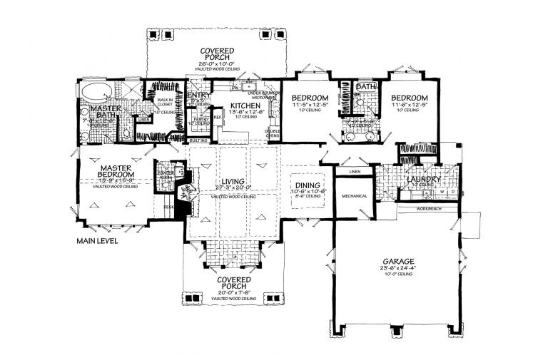 Craftsman House Plan - Lewis Ridge 96774 - Optional Floor Plan