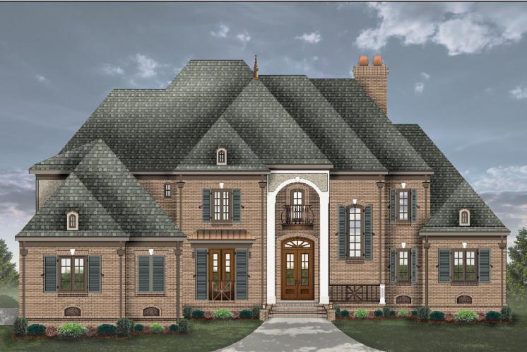 European House Plan -  96798 - Front Exterior