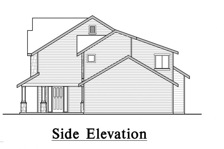 Traditional House Plan -  96892 - Right Exterior