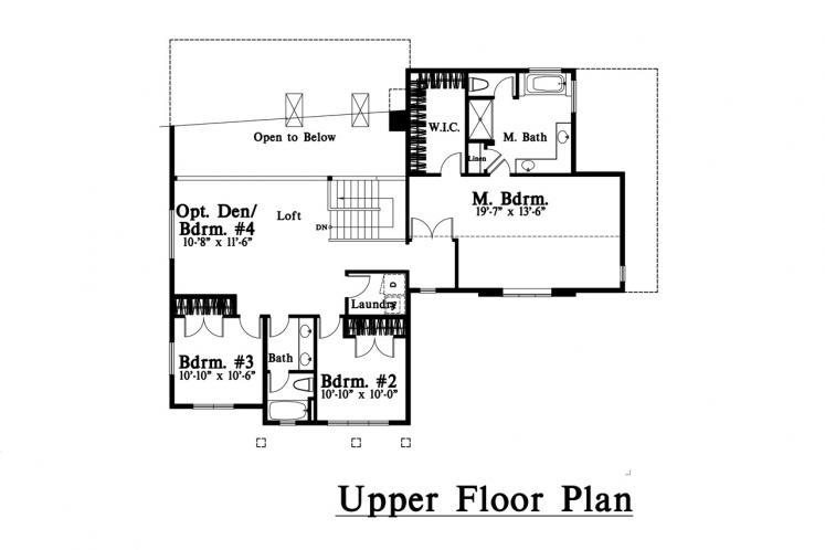 Traditional House Plan -  96892 - 2nd Floor Plan