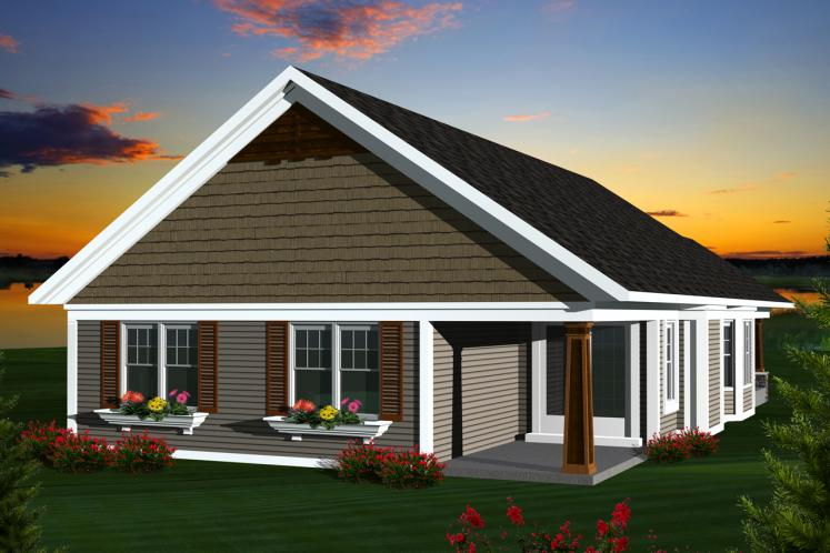 Traditional House Plan -  96920 - Rear Exterior