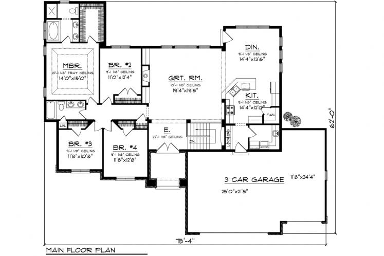 Tuscan House Plan -  96946 - 1st Floor Plan
