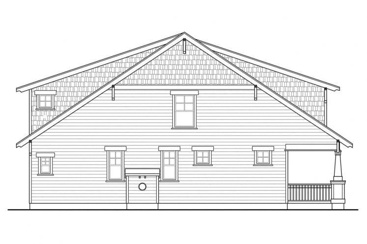 Craftsman House Plan - Greenwood 97000 - Left Exterior