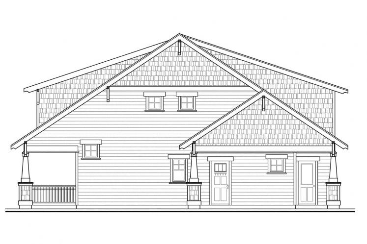 Bungalow House Plan - Greenwood 97000 - Right Exterior