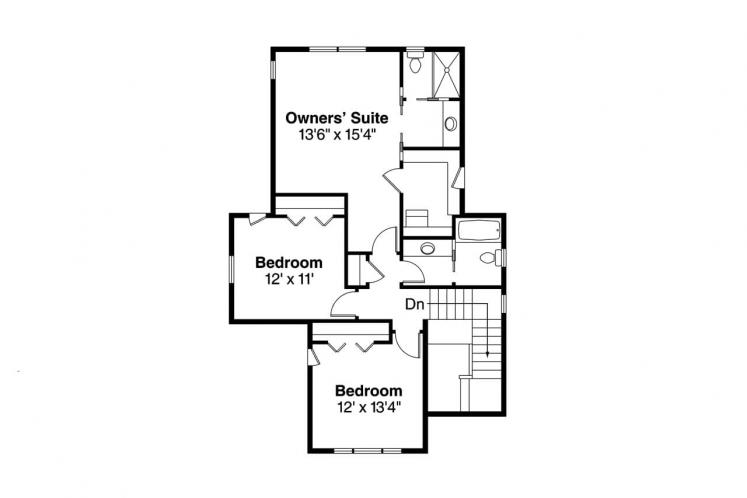 Craftsman House Plan - Greenwood 97000 - 2nd Floor Plan