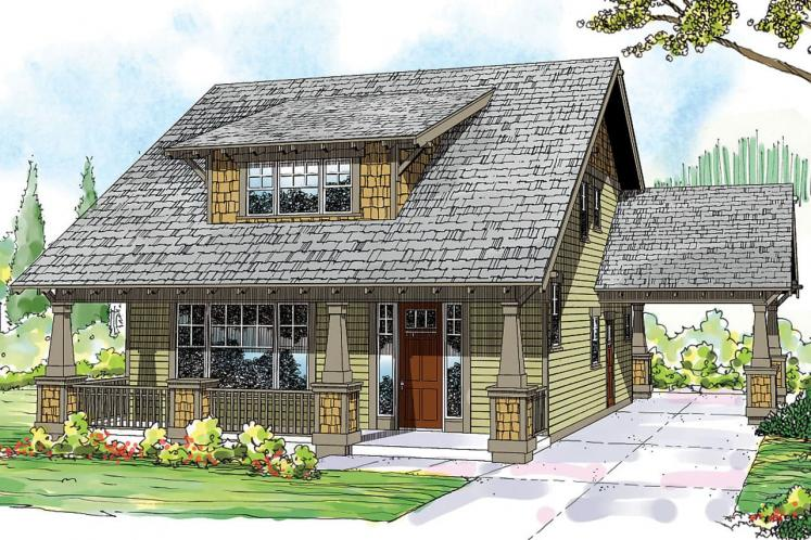 Bungalow House Plan - Greenwood 97000 - Front Exterior