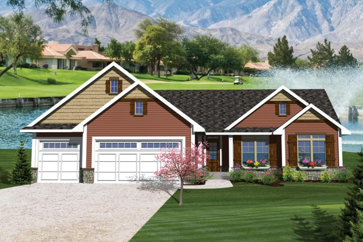 Traditional House Plan -  97067 - Front Exterior